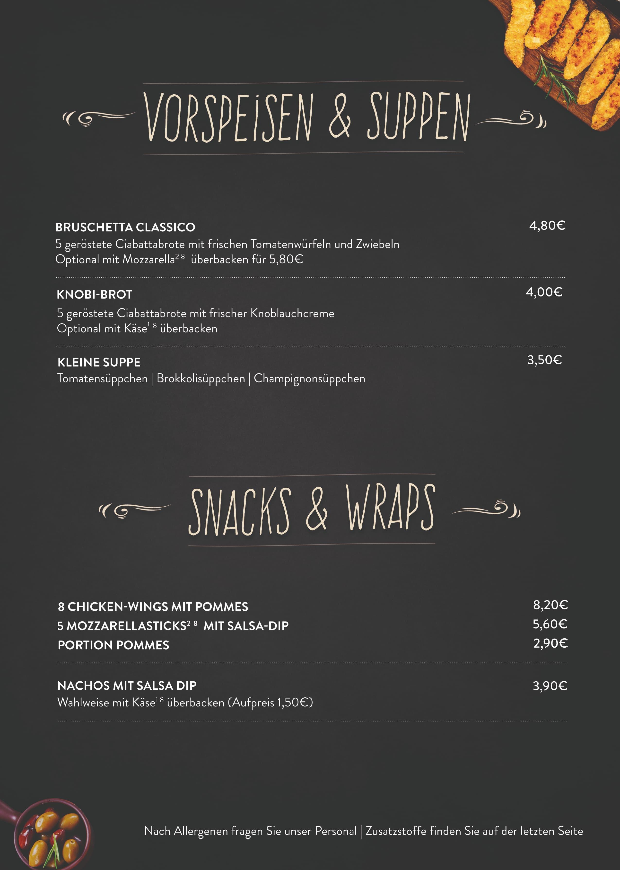 Seite 3 NEU Vorspeisen Suppern Salate Snacks und Wraps